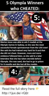 5 olympia winners who cheated marion jones was able to win 5 medals