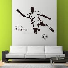 Home Decoration Wall Stickers Aliexpress Com Buy Soccer Wall Sticker Football Player Decal