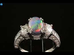 Opal Wedding Rings by Opal Engagement Rings Opal Engagement Rings With Diamonds Youtube