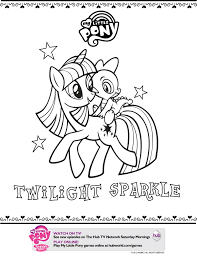 my little pony twilight sparkle printable coloring page mama