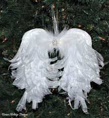 diy angelic organdy ribbon wings wings and
