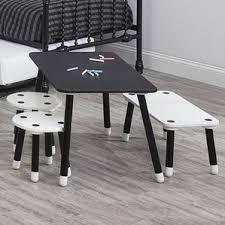 Childrens Desk And Stool Rectangle Kids U0027 Table U0026 Chair Sets You U0027ll Love Wayfair