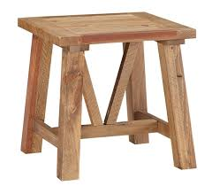 reclaimed wood end table millwood pines stambaugh reclaimed wood end table reviews wayfair