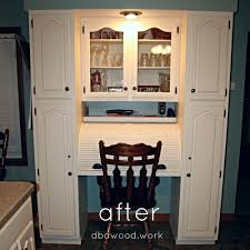 Kitchen Desk Cabinets Updated Antique White Kitchen Cabinets St Rose Il U2014 Dba Custom