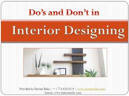 home design do s and don ts do s and don t in interior designing authorstream