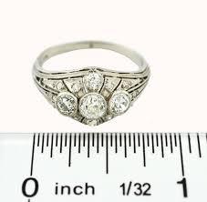 art deco 3 stone diamond and platinum ring rings jewelry