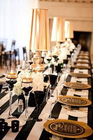 Black And White Centerpieces For Weddings by Love This Glamorous Black White And Gold Wedding Planned By