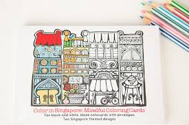 singapore themed colouring books and cards for adults the finder