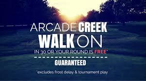 new walk on golf special on arcade creek haggin oaks