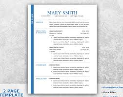 college resume template word resume template word etsy