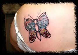neo traditional butterfly tattoodenenasvalencia