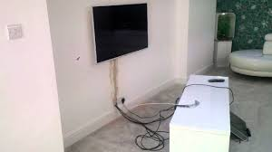 Cabling For Wall Mounted Tv Concealed Cable Hdtv Wall Mount Youtube