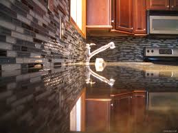 Kitchens With Mosaic Tiles As Backsplash Stainless Steel Mosaic Tile Subway Inspirations Including Metal