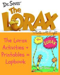 the lorax activites printables u003d lapbook startsateight