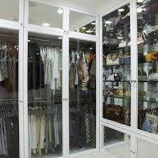 Closet Glass Door Glass Front Bag Cabinet Design Ideas