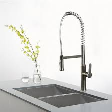 kraus nola single lever commercial style kitchen faucet with