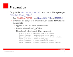 Oracle Drop Table If Exists Oracle Upgrade11gr1 Workshop1