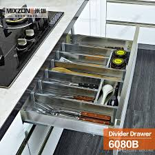 Kitchen Cabinet Plate Organizers 2016 Kitchen Cabinet Soft Closing Stainless Steel Cutlery Tray