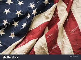 Memorial Day American Flag Old American Flag Background Memorial Day Stock Photo 437881657