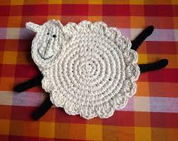 crochet sheep coaster pattern sheep pattern lamb pattern