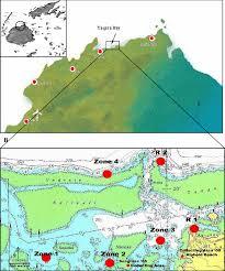 Fiji Islands Map A Map Of The North Coast Of The Main Island Of Viti Levu