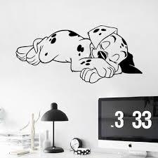 dog wall art roselawnlutheran material pvc size 57 x 26cm pack one piece pattern sleeping dog
