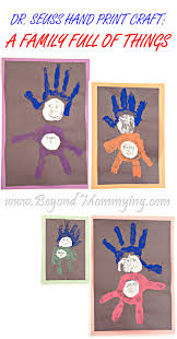 dr seuss hand print craft thing 1 and thing 2 and 3 and 4