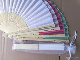 personalized wedding fans dhl personalized custom folding fans silk silk wedding fan
