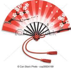 japanese folding fan realistic japanese folding fan with flowers ornament