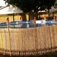 an inexpensive way to dress up your above ground pool bamboo