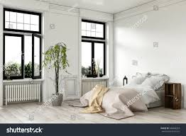 White Bedroom Rugs Airy Bright White Bedroom Interior Large Stock Illustration