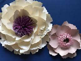 Make Your Own Paper Flowers - 2 peony flowers templates u0026 video tutorials paper flower pattern