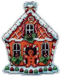 gingerbread house ornament kit cross stitch nordic needle