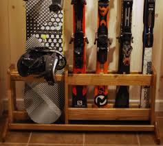 Free Standing Wood Shelf Plans by 21 Best Ski Storage Images On Pinterest Ski Rack Garage Storage