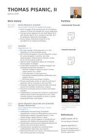Scientist Resume Senior Research Scientist Resume Samples Visualcv Resume Samples