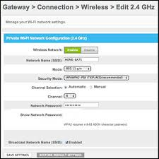 resetting wifi password change your wifi network name and password in the admin tool