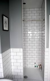 best ideas about budget bathroom pinterest bathroom idea grey with walk shower and white subway tiles