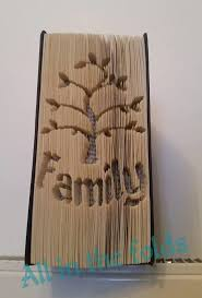 family tree cut and fold book pattern measurement style not