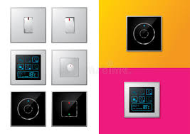 set of modern electrical switches stock vector image 18152412