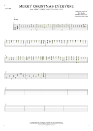 merry christmas tablature guitar solo fingerstyle