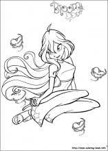 winx club coloring pages coloring book