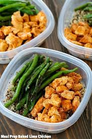 food prep meals meal prep baked lime chicken bowls yummy healthy easy