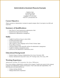 example resume for administrative assistant assistant administrative assistant summary resume printable of administrative assistant summary resume large size