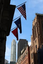New Yorks Flag New York Auf Der 5th Avenue Alte Steine Reisen