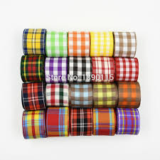 plaid ribbon popular plaid ribbon 38mm buy cheap plaid ribbon 38mm lots from