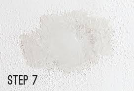 Repair Textured Ceiling by Knockdown Texture Patch Cheap Like Liked During And After Another