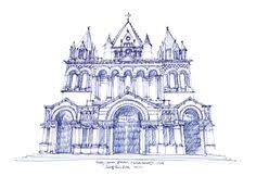 catedral de león spain sketch by joungyeon bahk grid a