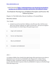 test bank for nursing care of children principles and practice 4th