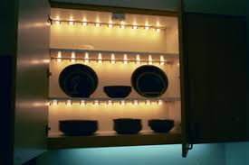 shelf with lights underneath artificial light visionaware