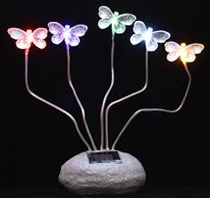 solar powered patio lights butterfly solar powered garden lights 5 butterflies steady on led